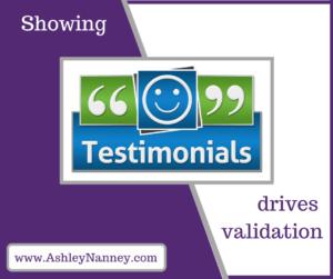Showing Testimonials